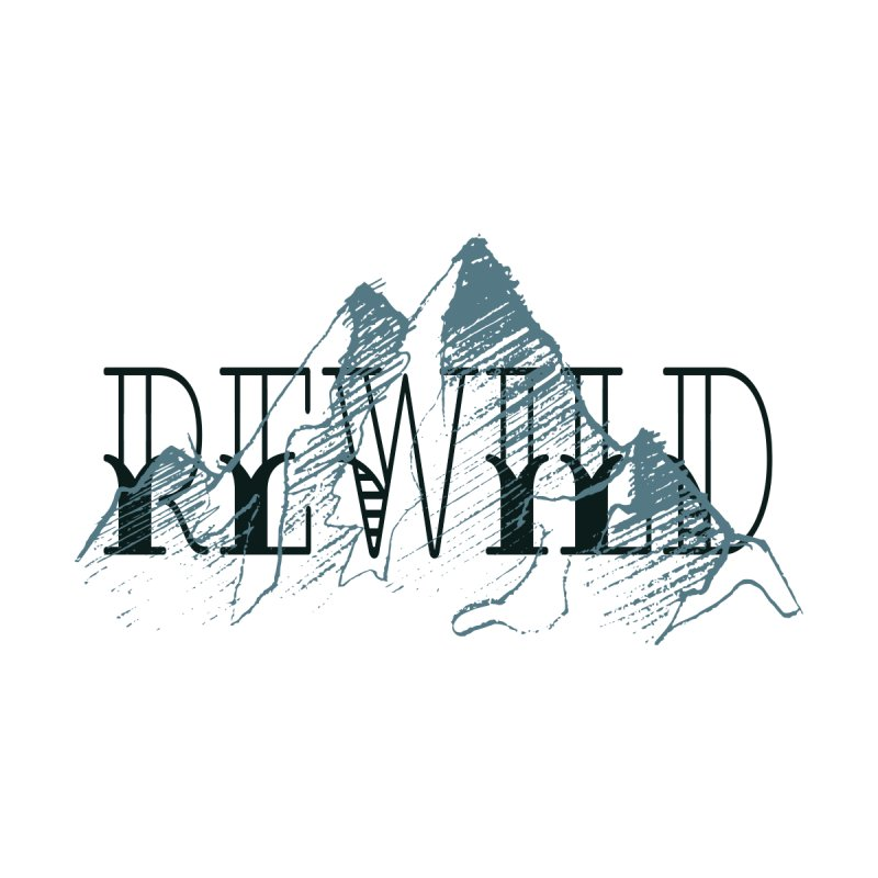 REWILD Men's Pullover Hoody by Wild Roots Artist Shop