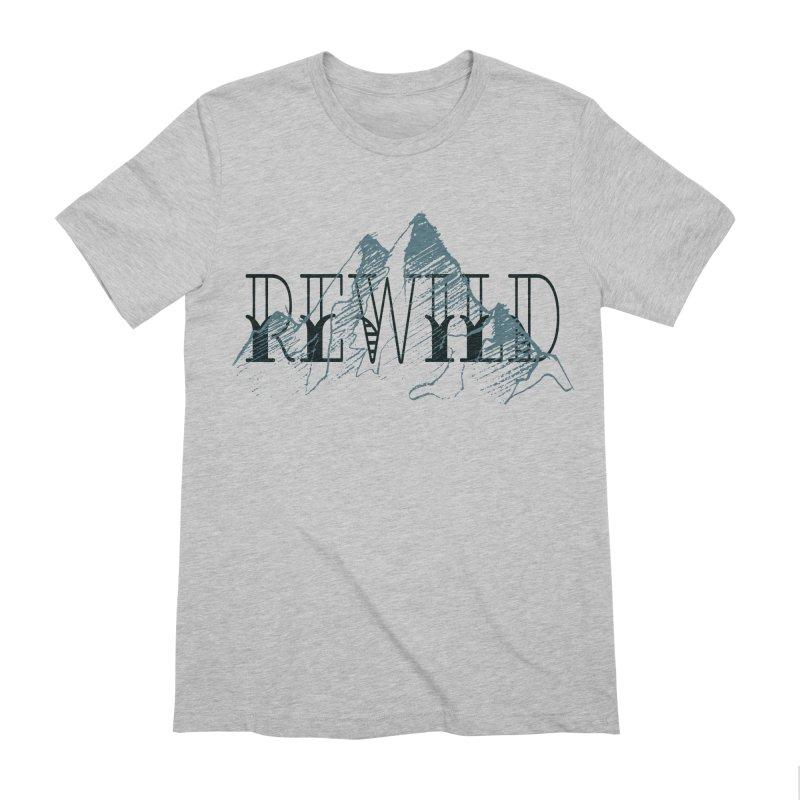 REWILD Men's Extra Soft T-Shirt by Wild Roots Artist Shop