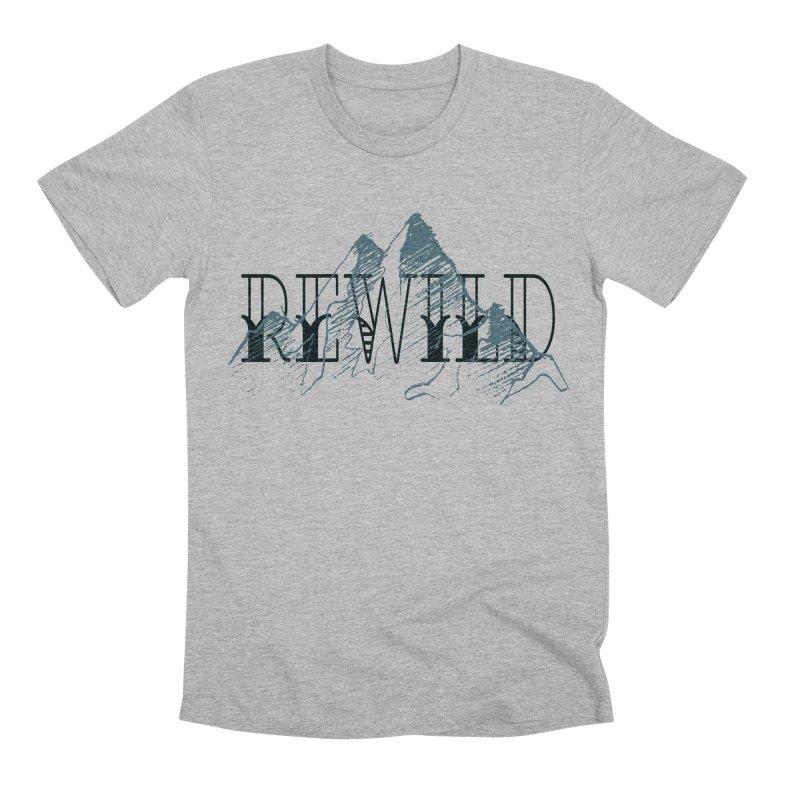 REWILD Men's Premium T-Shirt by Wild Roots Artist Shop