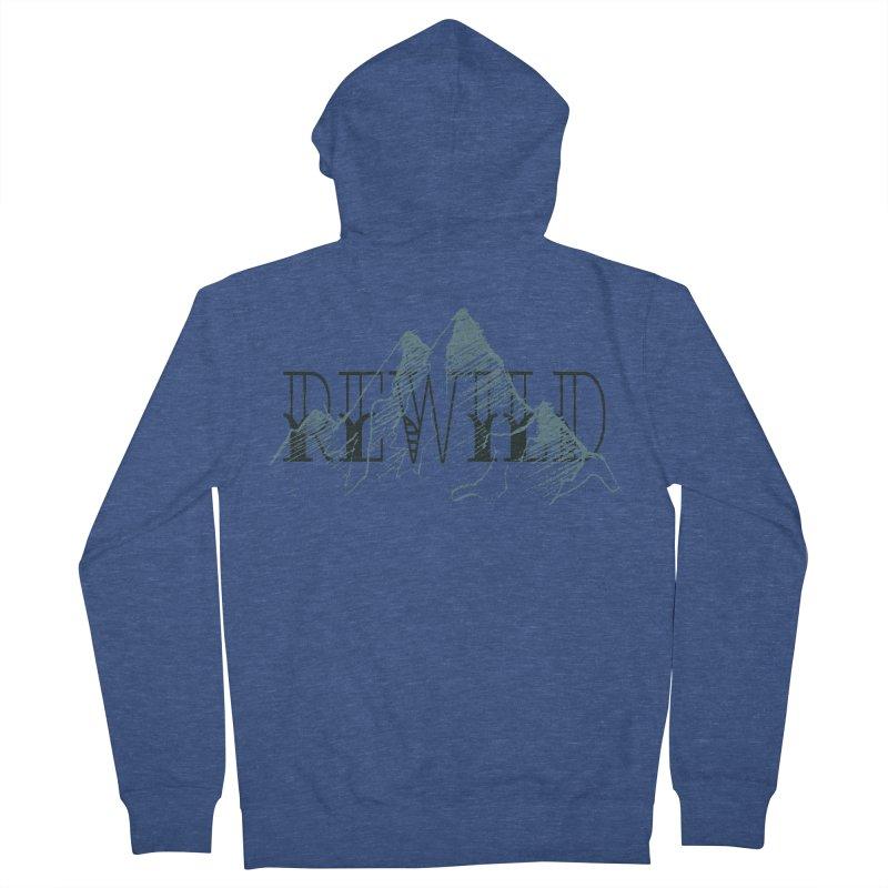 REWILD Men's Zip-Up Hoody by Wild Roots Artist Shop
