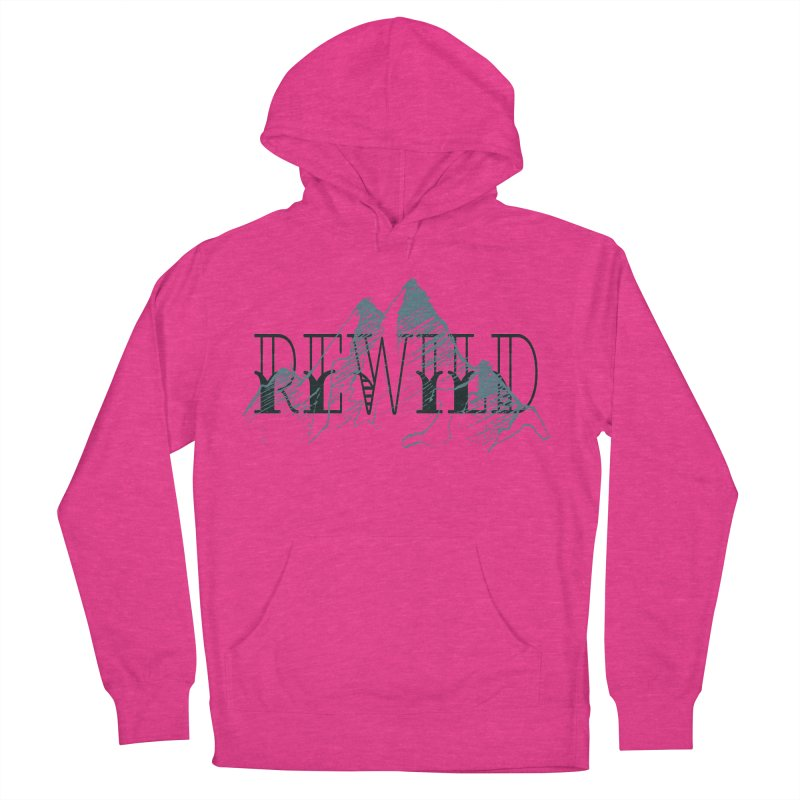 REWILD Men's French Terry Pullover Hoody by Wild Roots Artist Shop