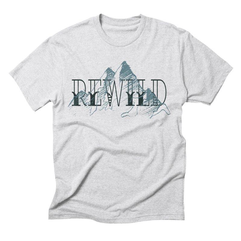 REWILD Men's Triblend T-Shirt by Wild Roots Artist Shop