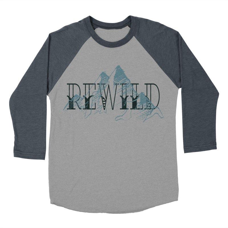 REWILD Men's Baseball Triblend Longsleeve T-Shirt by Wild Roots Artist Shop