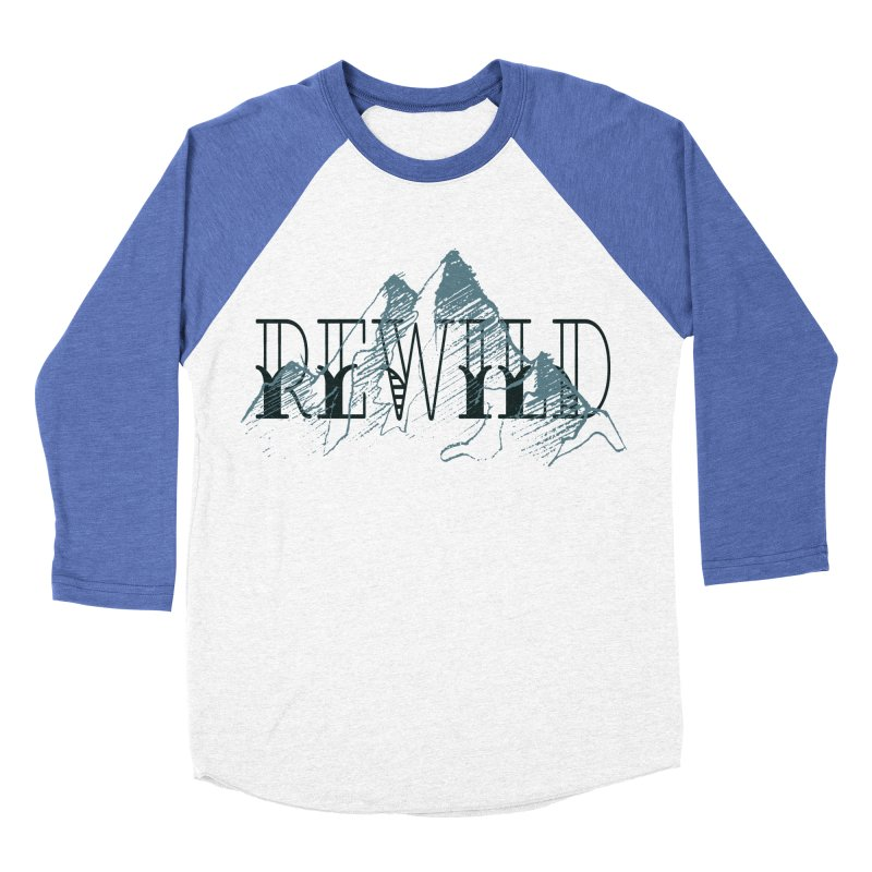 REWILD Men's Baseball Triblend Longsleeve T-Shirt by Wild Roots Artist Shop