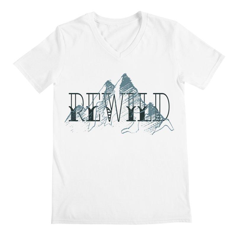 REWILD Men's V-Neck by Wild Roots Artist Shop