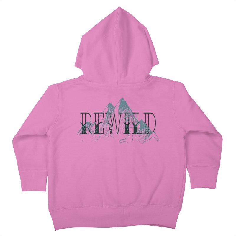 REWILD Kids Toddler Zip-Up Hoody by Wild Roots Artist Shop