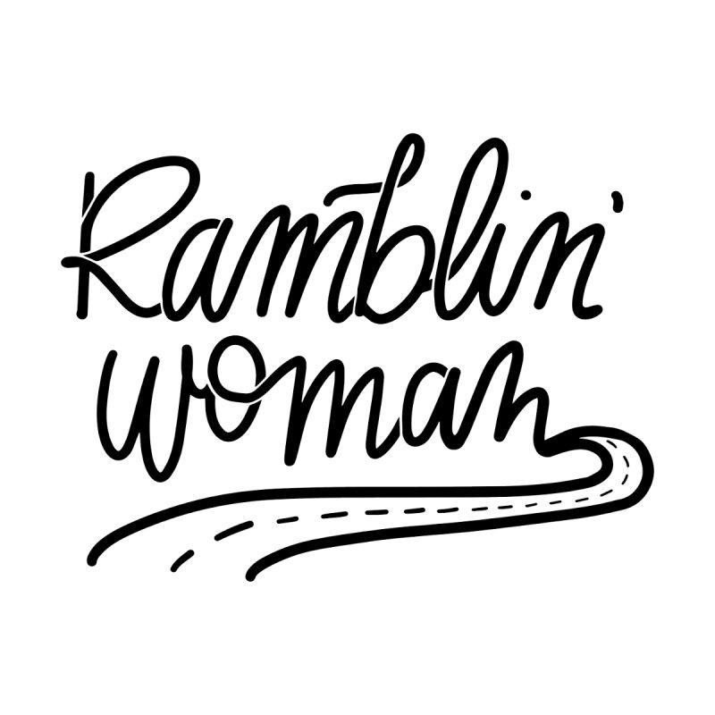 Ramblin' Woman T-Shirt Women's Scoop Neck by Wild We Wander's Shop