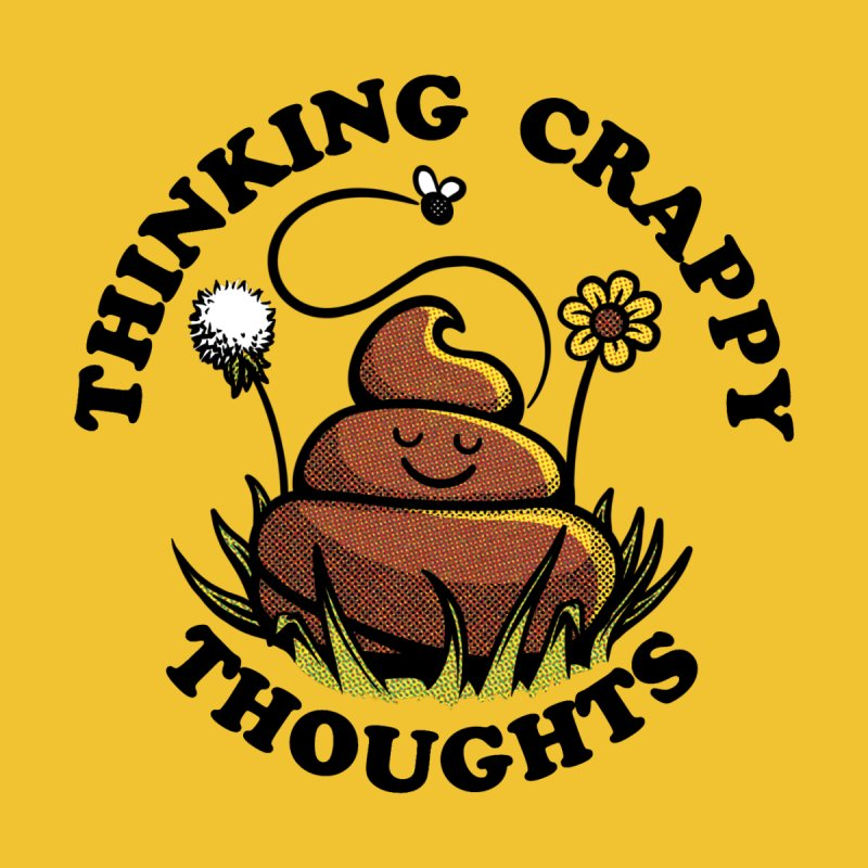 CRAPPY THOUGHTS Accessories Neck Gaiter by Wilfully Weird