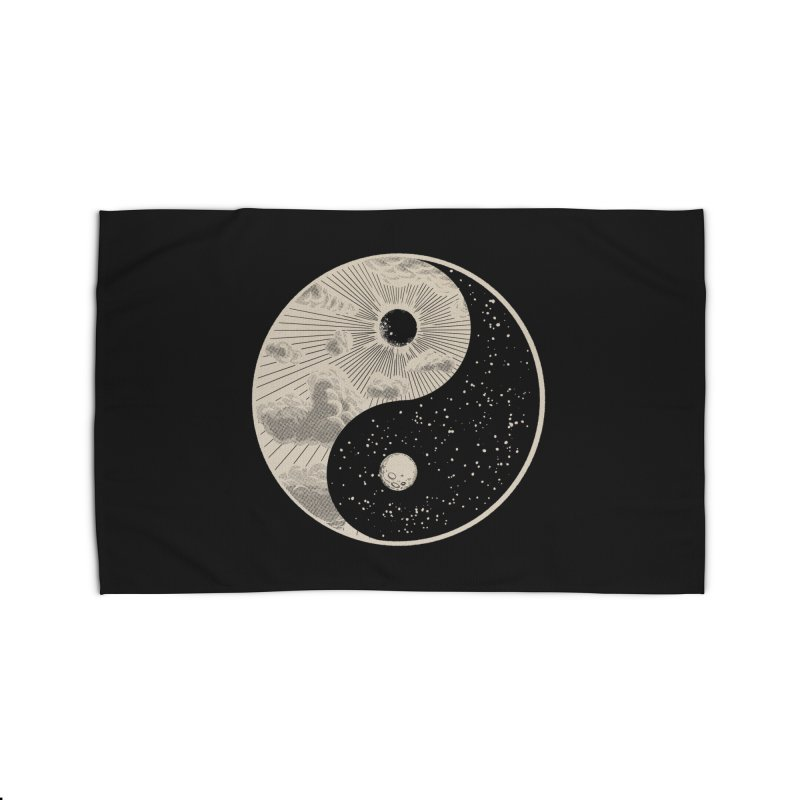 Day & Night Moon Home Rug by Wilfully Weird
