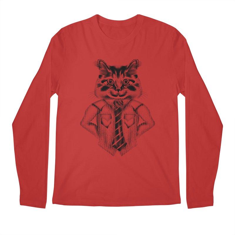 Smart Cat Men's Longsleeve T-Shirt by will.i.aint's Artist Shop