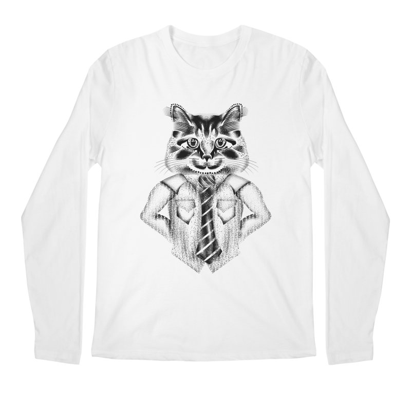 Smart Cat Men's Regular Longsleeve T-Shirt by will.i.aint's Artist Shop
