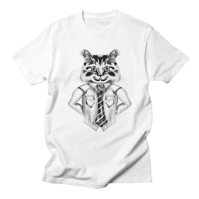 Smart Cat Men's Regular T-Shirt by will.i.aint's Artist Shop