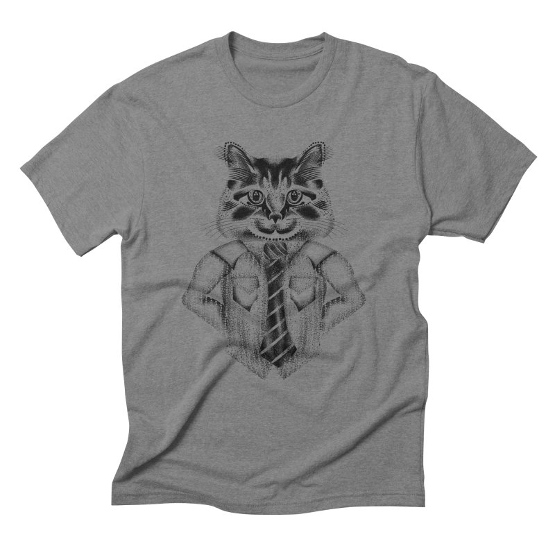 Smart Cat Men's T-Shirt by will.i.aint's Artist Shop
