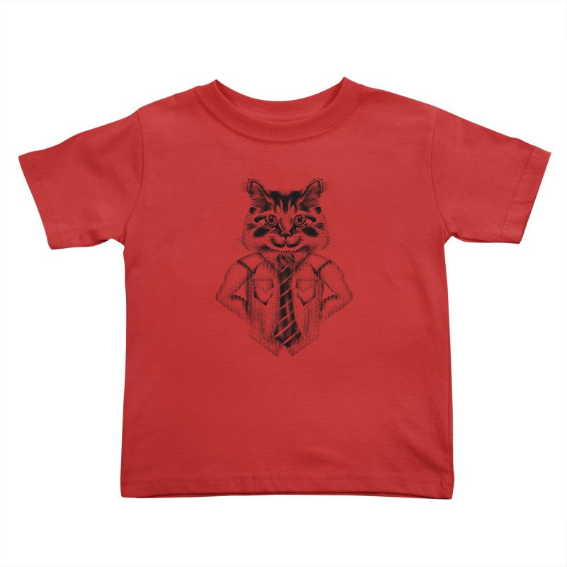 Smart Cat Kids Toddler T-Shirt by will.i.aint's Artist Shop