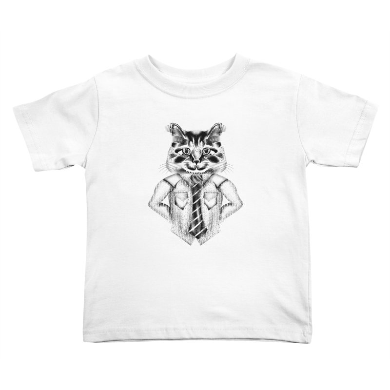 Smart Cat Kids Toddler T-Shirt by will.i.aint's Artist Shop