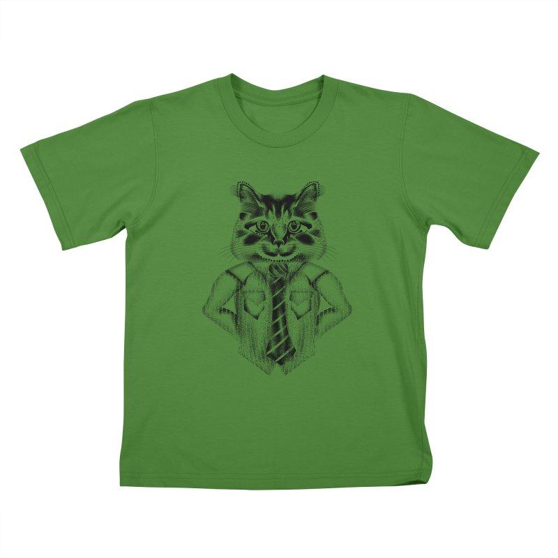 Smart Cat Kids T-Shirt by will.i.aint's Artist Shop