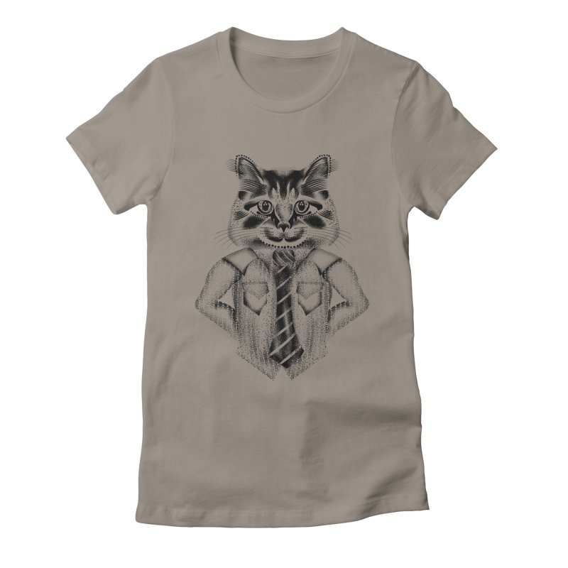 Smart Cat Women's Fitted T-Shirt by will.i.aint's Artist Shop