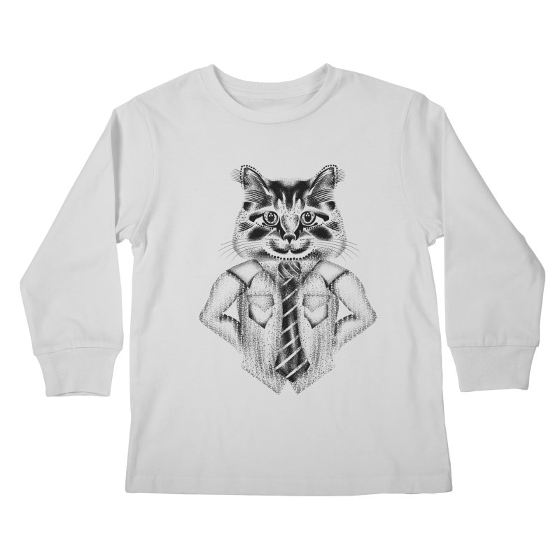 Smart Cat Kids Longsleeve T-Shirt by will.i.aint's Artist Shop