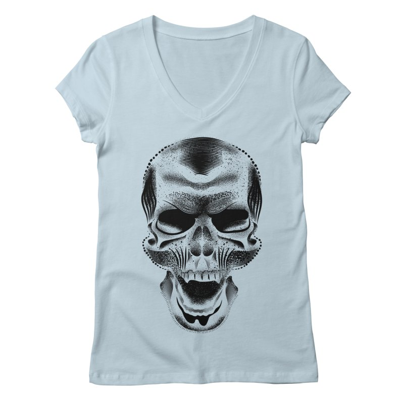 Bones Women's Regular V-Neck by will.i.aint's Artist Shop