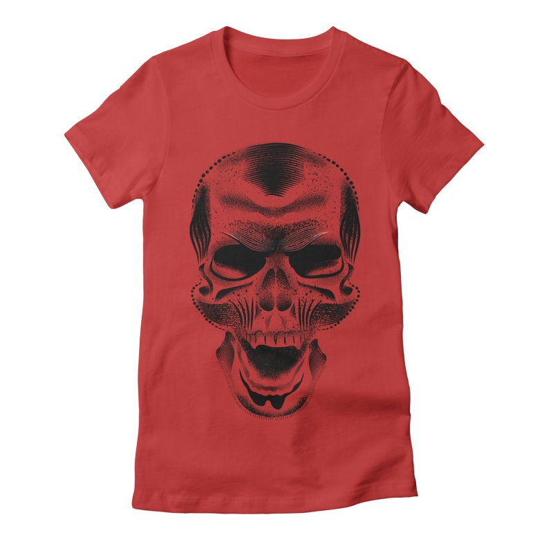 Bones Women's Fitted T-Shirt by will.i.aint's Artist Shop