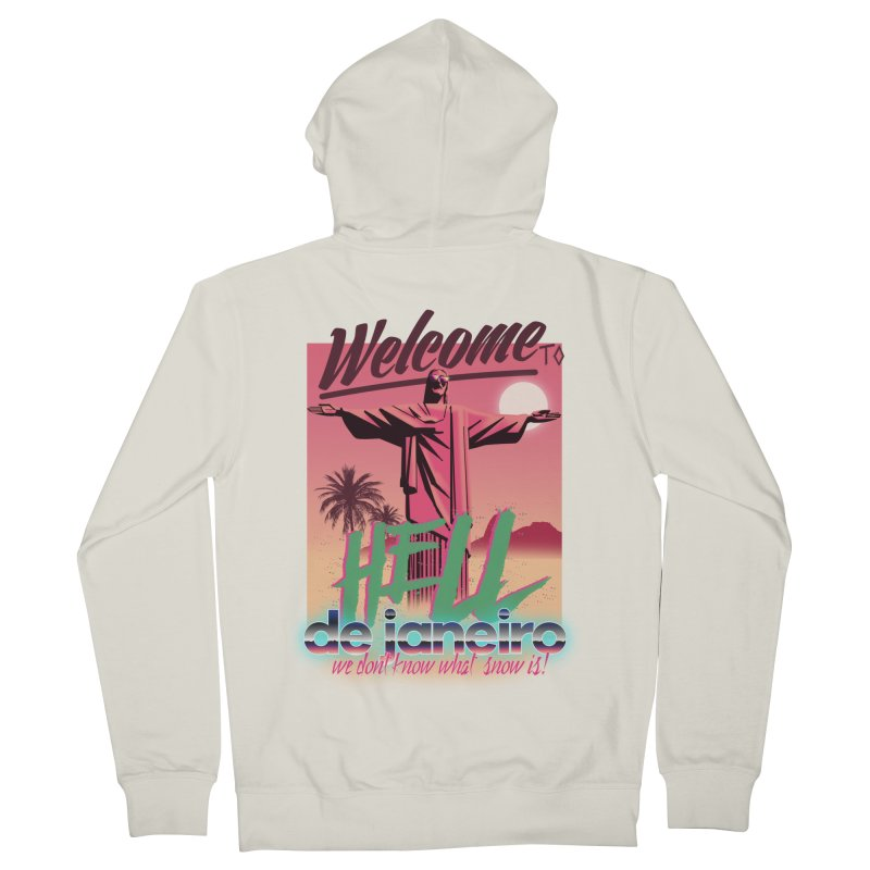 Welcome to hell de janeiro Women's Zip-Up Hoody by Willian Richard's Artist Shop