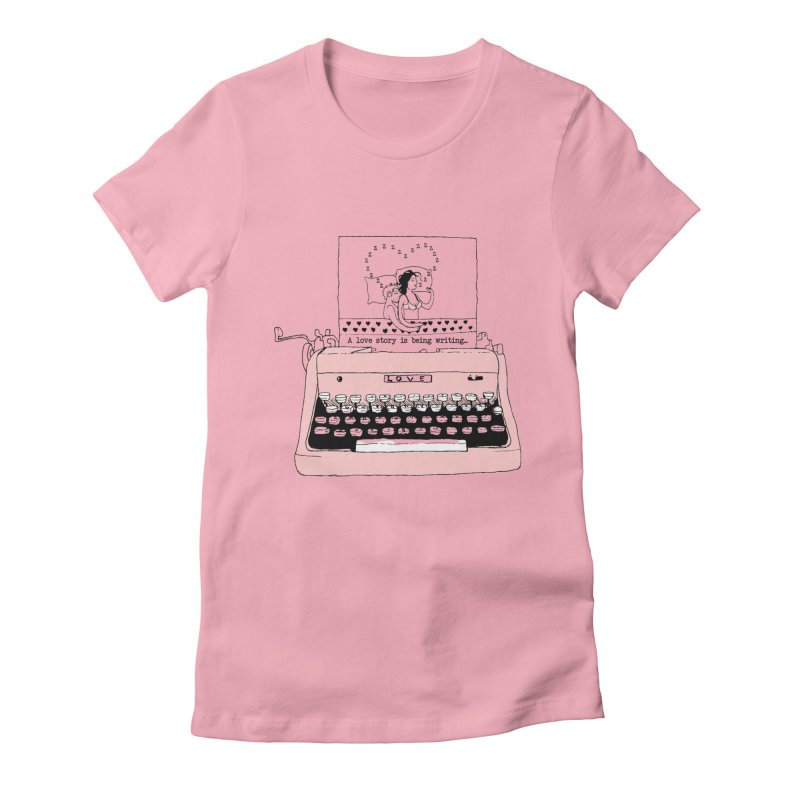 Love Story Women's Fitted T-Shirt by Willian Richard's Artist Shop