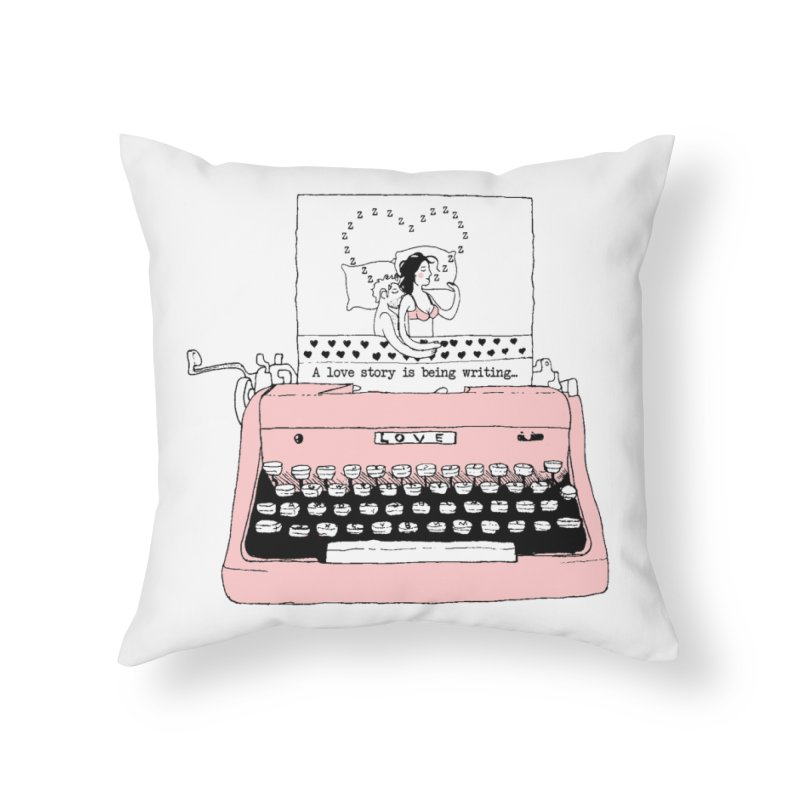 Love Story Home Throw Pillow by Willian Richard's Artist Shop