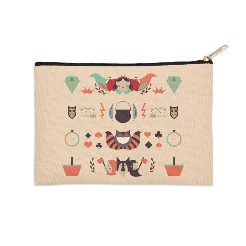 Fluffy tales Accessories Zip Pouch by Willian Richard's Artist Shop