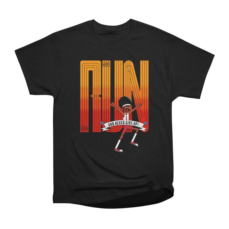Run and never give up Men's Heavyweight T-Shirt by Willian Richard's Artist Shop
