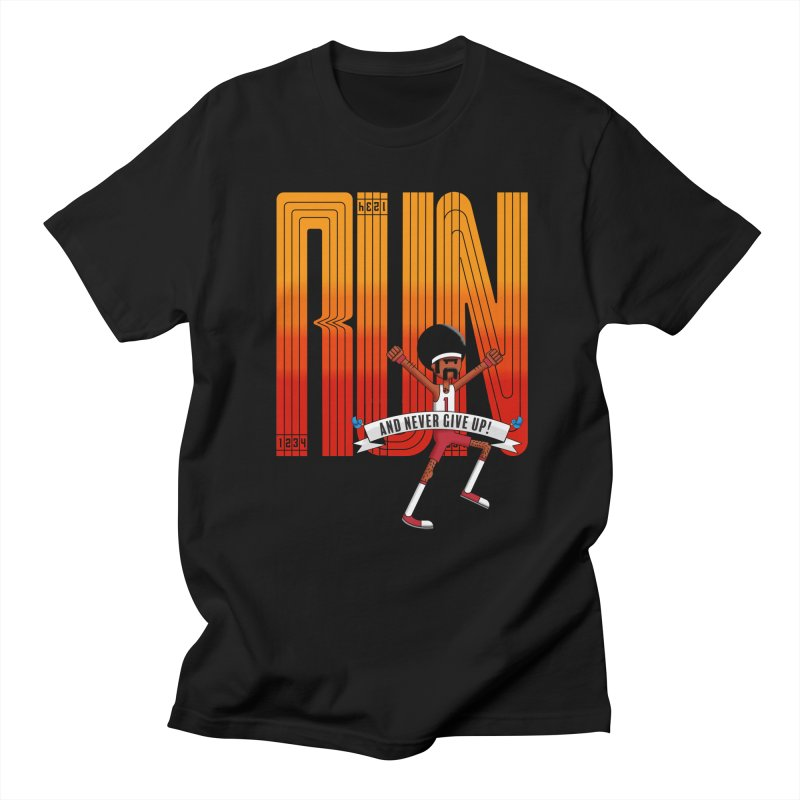 Run and never give up Men's T-Shirt by Willian Richard's Artist Shop