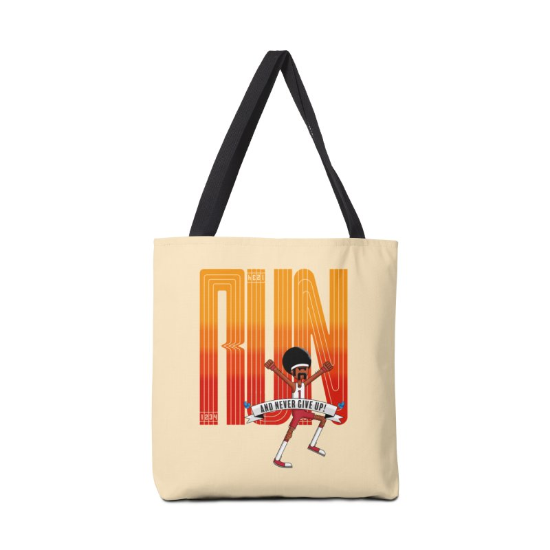 Run and never give up Accessories Bag by Willian Richard's Artist Shop
