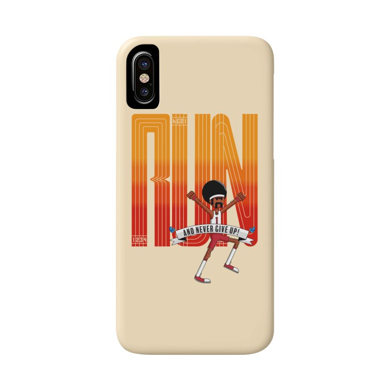 Run and never give up Accessories Phone Case by Willian Richard's Artist Shop