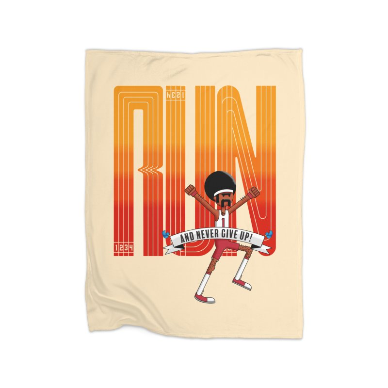 Run and never give up Home Blanket by Willian Richard's Artist Shop