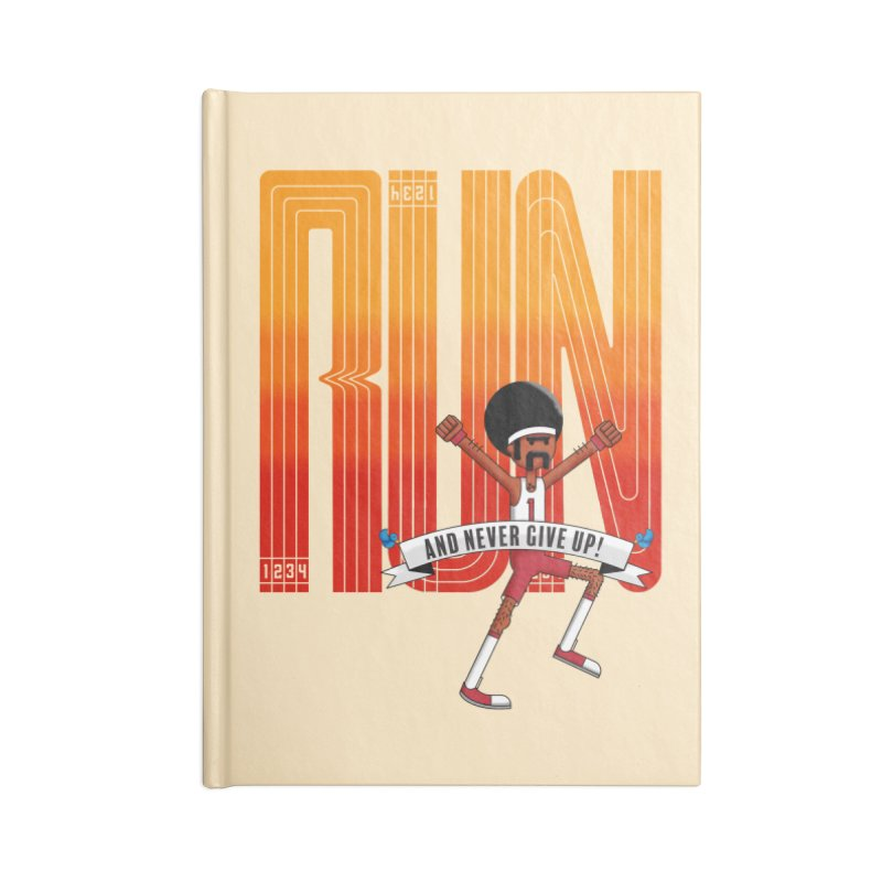 Run and never give up Accessories Notebook by Willian Richard's Artist Shop