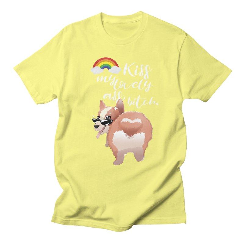 Kiss my lovely ass, bitch. Men's T-Shirt by Willian Richard's Artist Shop