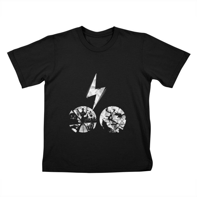 History of a boy Kids T-Shirt by Willian Richard's Artist Shop