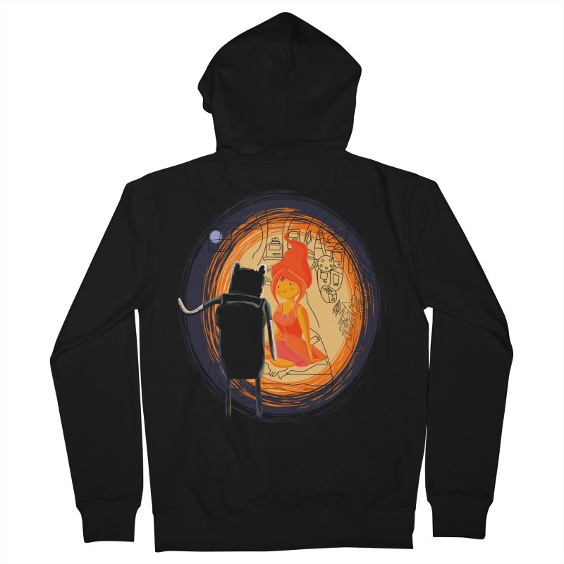 Love flame Men's Zip-Up Hoody by Willian Richard's Artist Shop
