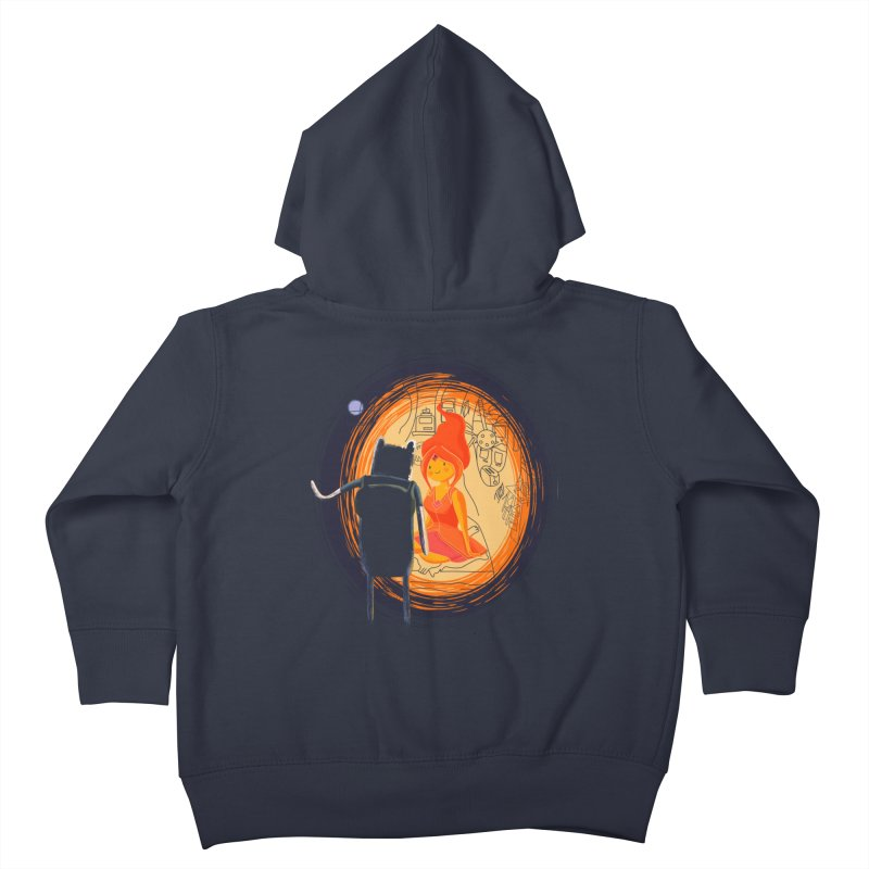 Love flame Kids Toddler Zip-Up Hoody by Willian Richard's Artist Shop