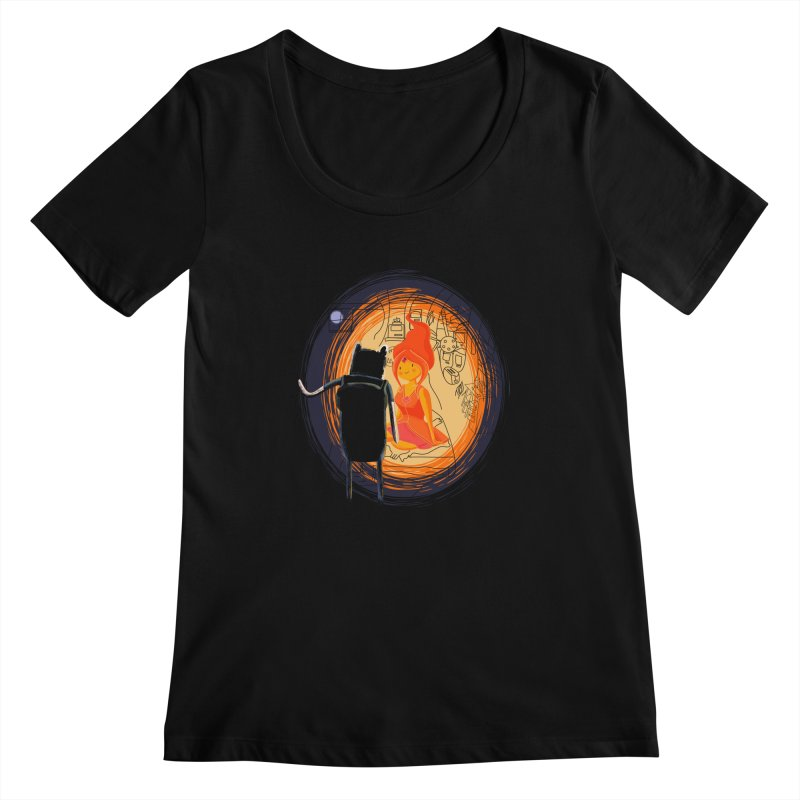 Love flame Women's Scoopneck by Willian Richard's Artist Shop