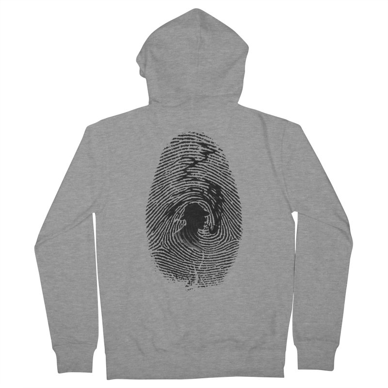 Fingerprint Men's Zip-Up Hoody by Willian Richard's Artist Shop