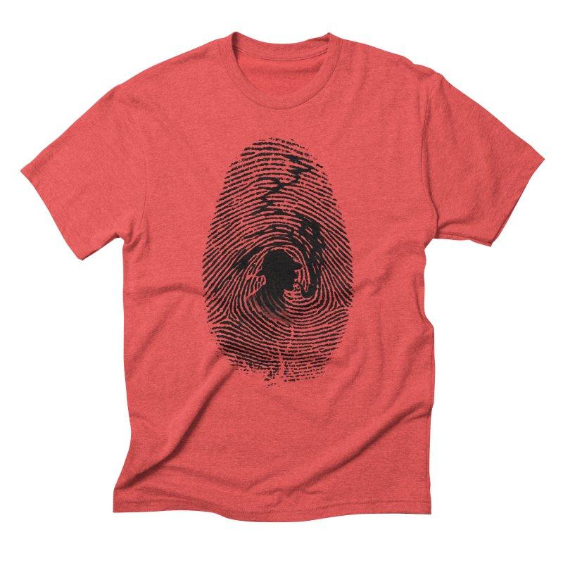 Fingerprint Men's Triblend T-Shirt by Willian Richard's Artist Shop