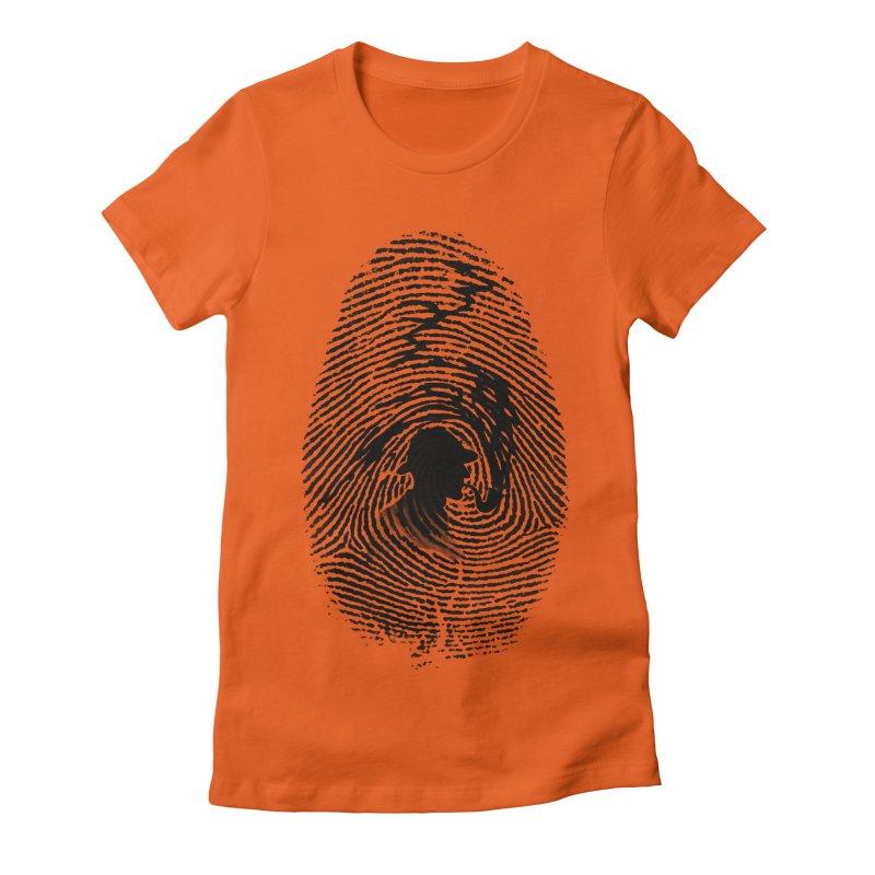 Fingerprint Women's Fitted T-Shirt by Willian Richard's Artist Shop
