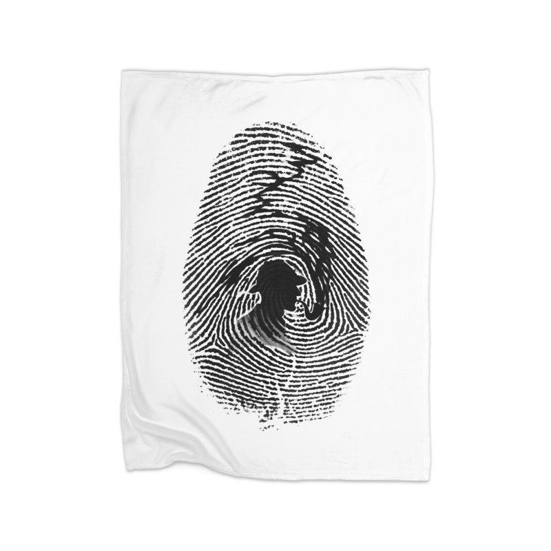 Fingerprint Home Blanket by Willian Richard's Artist Shop