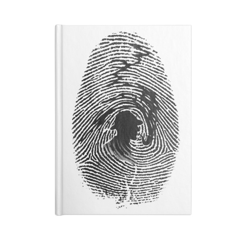 Fingerprint Accessories Notebook by Willian Richard's Artist Shop