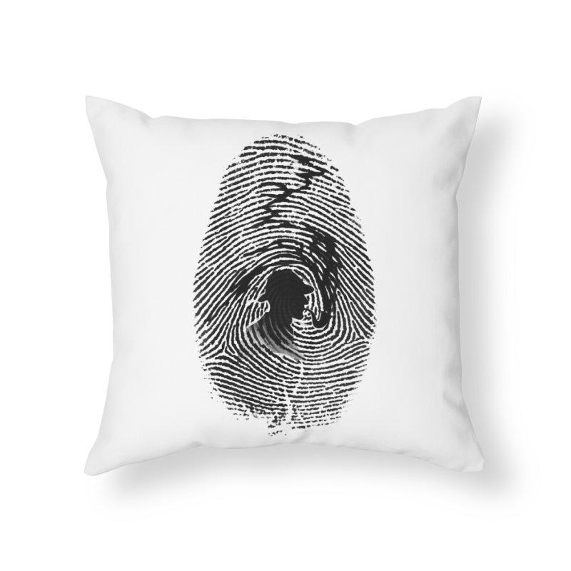 Fingerprint Home Throw Pillow by Willian Richard's Artist Shop