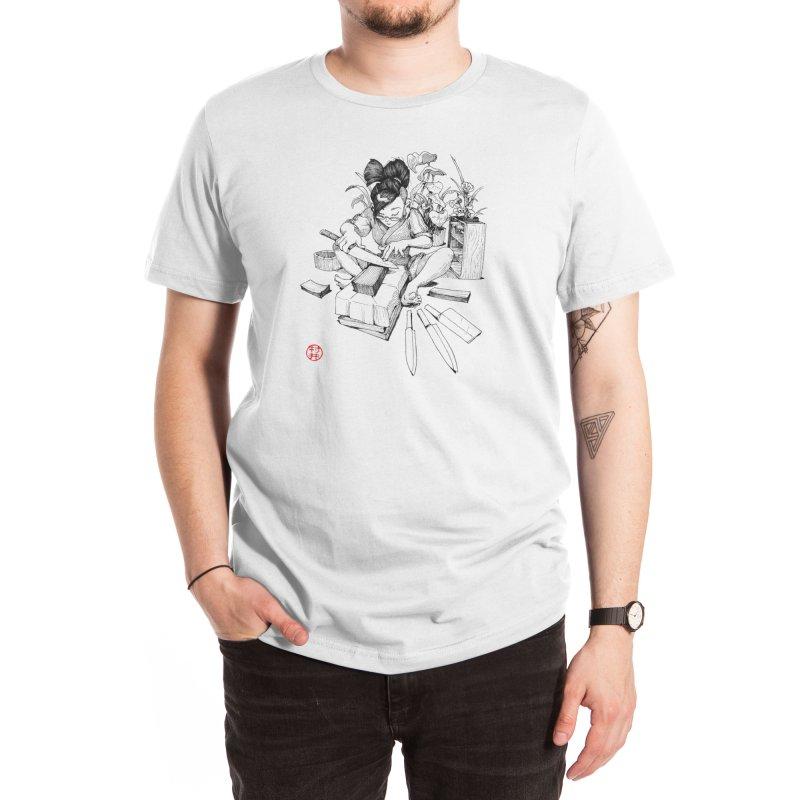 Sharpening Men's T-Shirt by Will Murai's Artist Shop