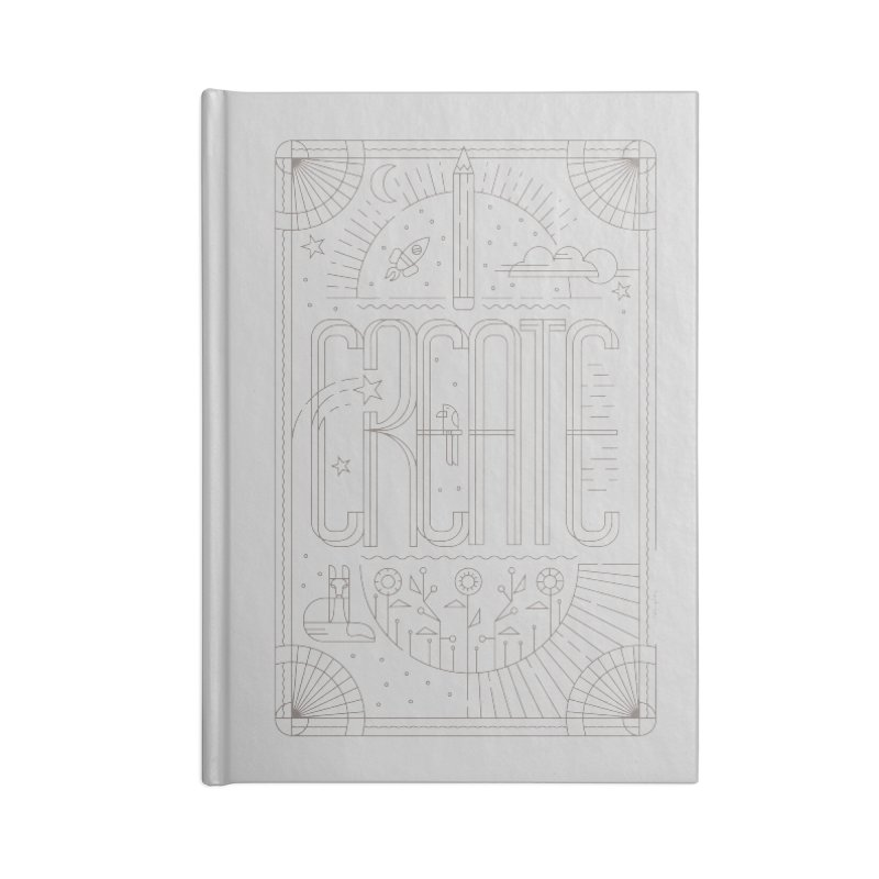 Create - Grey in Blank Journal Notebook by Willoughby Goods
