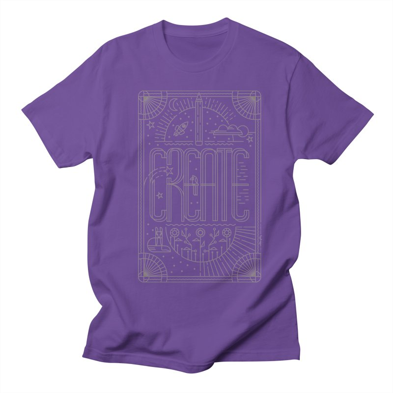 Create - Grey Women's Regular Unisex T-Shirt by Willoughby Goods