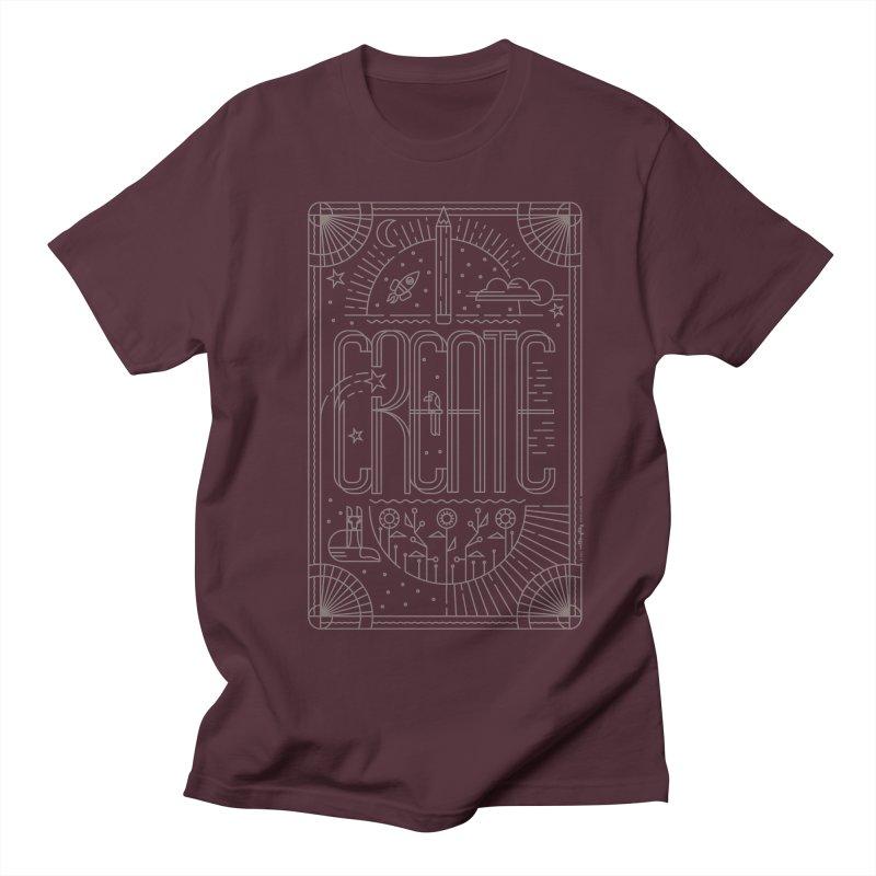 Create - Grey Women's Regular Unisex T-Shirt by Willoughby Goods