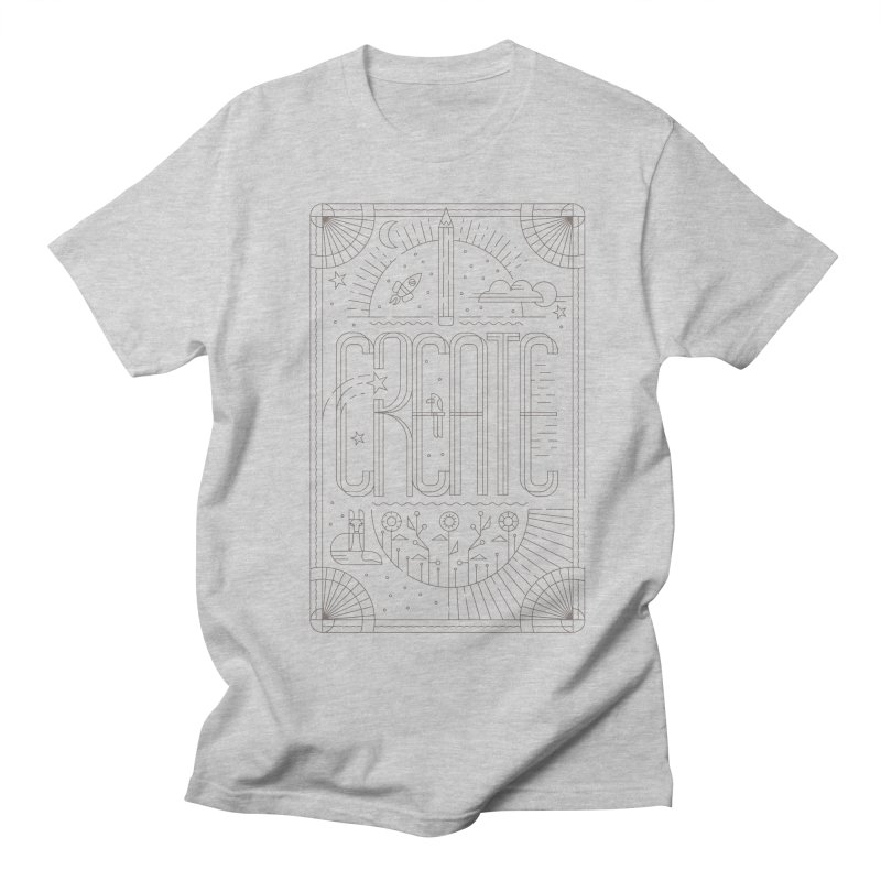 Create - Grey Men's Regular T-Shirt by Willoughby Goods